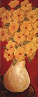 """Gold On Red by Diana Martin - 8"""" x 20"""""""