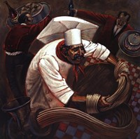 Chefs in Motion III Fine Art Print