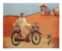 "Une Promenade A La Campagne 3 by Genevieve Pfeiffer - 22"" x 18"""
