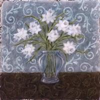 White And Paisley I Framed Print