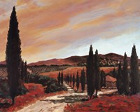 Tuscan Sunset II Fine Art Print
