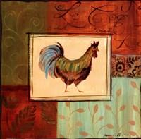 Patchwork Rooster IV Framed Print
