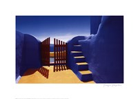 "Gate with Yellow Steps by Yiorgos Depollas - 28"" x 20"""