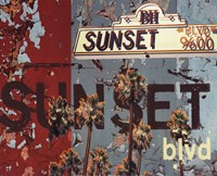 Sunset Blvd Fine Art Print