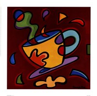 "Red Coffee Mug by Sonya Paz - 14"" x 14"""
