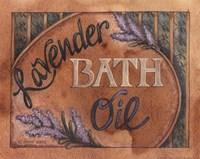 Lavender Bath Oil Framed Print