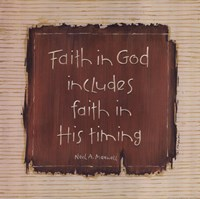 Faith In God Fine Art Print