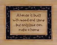 """A House Is Built by Karen Tribett - 14"""" x 11"""""""