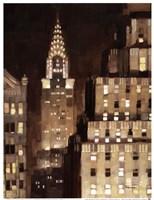 "Manhattan Aglow by Paulo Romero - 7"" x 9"", FulcrumGallery.com brand"