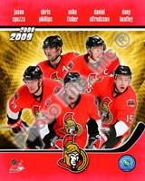 """2008-09 Ottawa Senators Team Composite, 2008 - 8"""" x 10"""""""
