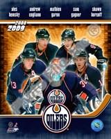 2008-09 Edmonton Oilers Team Composite Fine Art Print