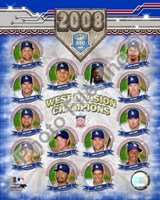 2008 Los Angeles Dodgers West Division Champs Composite Fine Art Print