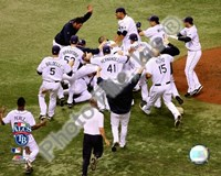 Tampa Bay Rays celebrate Game 7 of the 2008 ALCS Fine Art Print