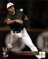 Ryan Braun University of Miami  Hurricanes 2005 Fielding Action Fine Art Print