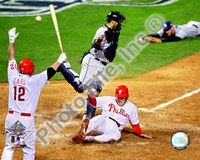 Eric Bruntlett Game three of the 2008 MLB World Series Game Winning Run Fine Art Print