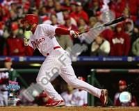 "Pedro Feliz Game 5 of the 2008 World Series RBI Single - 10"" x 8"""