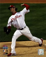 Cole Hamels Game 5 of the 2008 World Series Fine Art Print