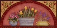 Tulips In Arch Fine Art Print