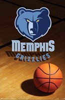 Grizzlies - Logo 08 Wall Poster