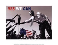 Barack Obama:  Yes We Can (crowd) Fine Art Print