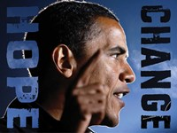 Barack Obama: Hope, Change Fine Art Print