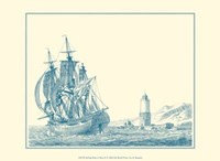 Sailing Ships in Blue III Fine Art Print