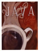 Java Columbia Framed Print