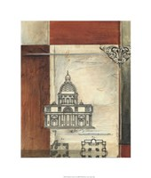 Architectural Measure II Framed Print