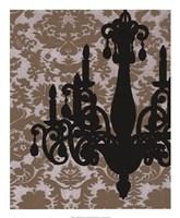Chandelier Silhouette I Framed Print