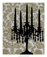 Candelabra Silhouette I Framed Print