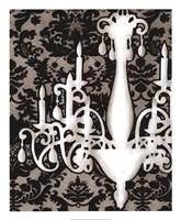 Patterned Chandelier I Framed Print