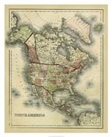 Antique Map of North America Fine Art Print
