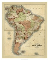 Antique Map of South America Fine Art Print