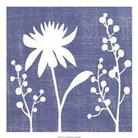 "Blue Linen I by Megan Meagher - 22"" x 22"""
