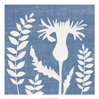 "Blue Linen III by Megan Meagher - 22"" x 22"""
