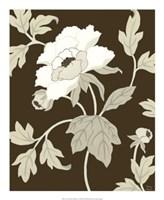 """Neutral Peony Elegance I by Nancy Slocum - 18"""" x 22"""""""
