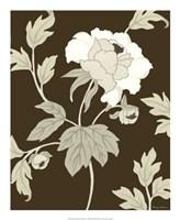 """Neutral Peony Elegance II by Nancy Slocum - 18"""" x 22"""""""