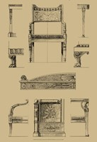 "French Empire Furniture II by Vision Studio - 13"" x 19"" - $12.99"