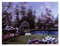 Lakeside Gazebo Fine Art Print