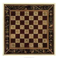 """Antique Gameboard I by Vision Studio - 22"""" x 22"""""""