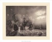Ships at Sea I Fine Art Print
