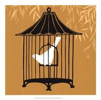 Birdcage Silhouette I Fine Art Print
