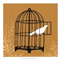 Birdcage Silhouette II Framed Print