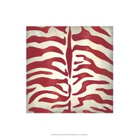 "Vibrant Zebra I by Chariklia Zarris - 16"" x 16"""