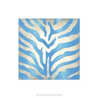 """Vibrant Zebra II by Chariklia Zarris - 16"""" x 16"""""""