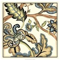 Jacobean Tile II Framed Print