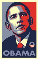 "RARE Obama Campaign Poster - OBAMA by Shepard Fairey - 11"" x 17"""