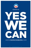 "Barack Obama - (Yes We Can - Blue) Campaign Poster - 11"" x 17"""