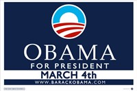 "Barack Obama - (March 4) Campaign Poster - 17"" x 11"""