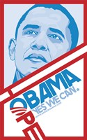 "Barack Obama - (Hope, Red) Campaign Poster - 11"" x 17"""